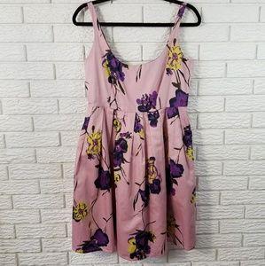 BB DAKOTA sleeveless dress 8 Fit & Flare Pink